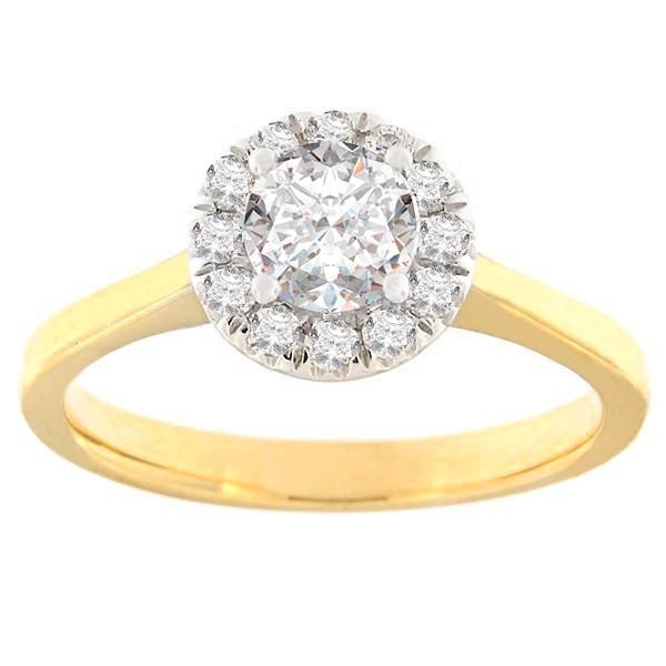 Золотое кольцо с бриллиантами 0,75 ct. Kод: 52ha-rb6340eg