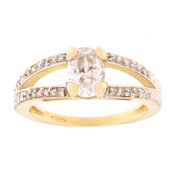 Kullast sõrmus tsirkoonidega Kood: 54pa