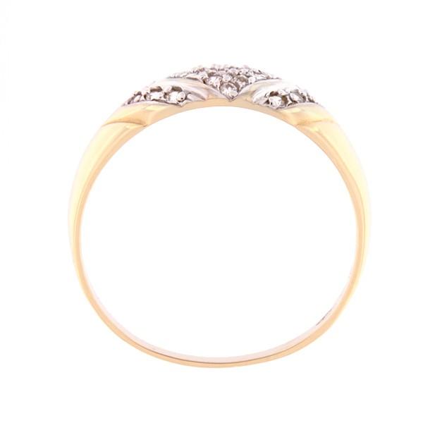 Kullast sõrmus tsirkoonidega Kood: 56pm-1