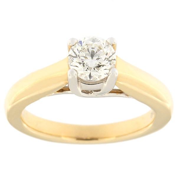 Kullast sõrmus teemantidega 0,70 ct. Kood: 5ax