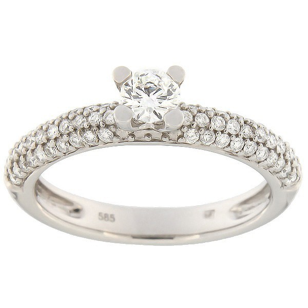 Gold ring with diamonds 0,54 ct. Code: 60ae