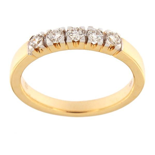 Kullast sõrmus teemantidega 0,25 ct. Kood: 62af