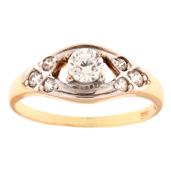 Kullast sõrmus tsirkoonidega Kood: 733wp047