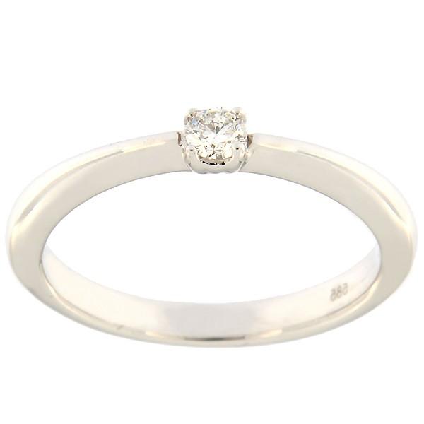Kullast sõrmus teemantiga 0,10 ct. Kood: 73an