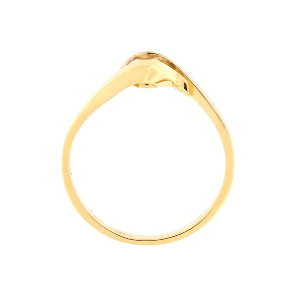 Kullast sõrmus tsirkooniga Kood: 79pt-1