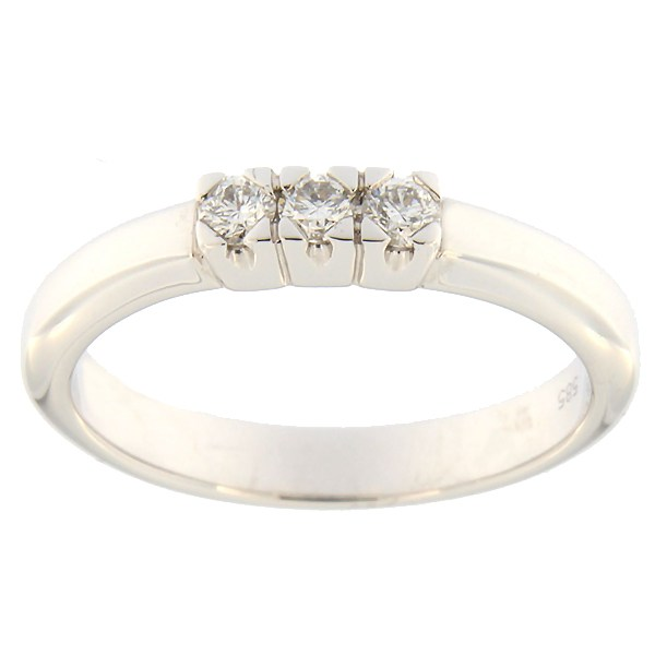Kullast sõrmus teemantidega 0,15 ct. Kood: 80al
