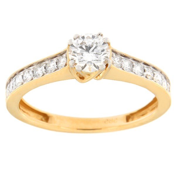 Gold ring with diamonds 0,63 ct. Code: 82af