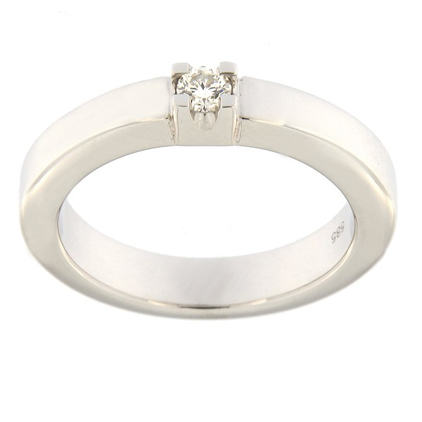 Gold ring with diamond 0,10 ct. Code: 82al