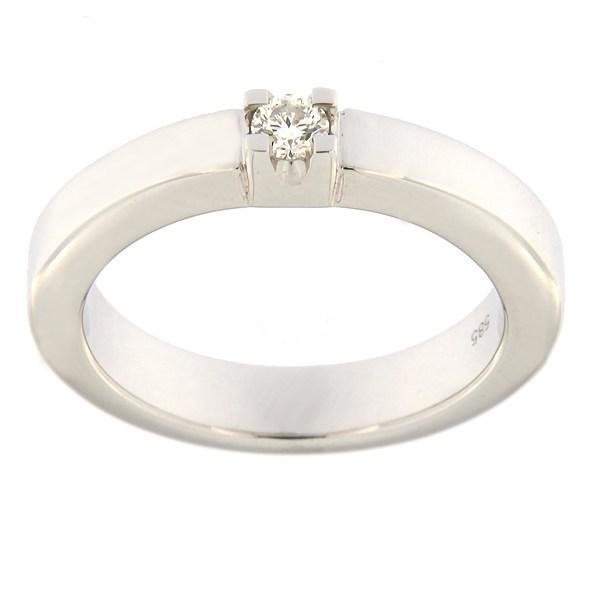 Kullast sõrmus teemantiga 0,10 ct. Kood: 82al