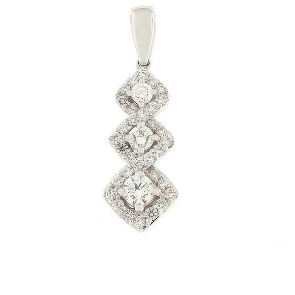 Gold pendant with diamonds 0,50 ct. Code: 84ak