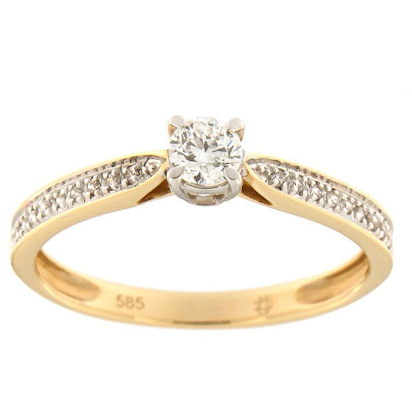 Gold ring with diamonds 0,26 ct. Code: 88af