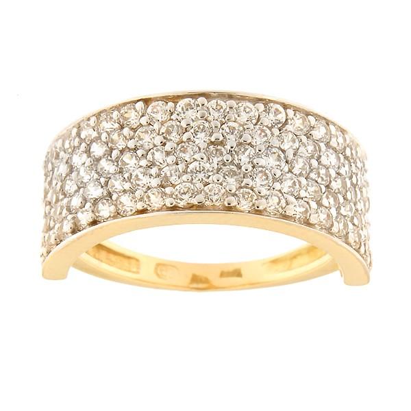 Kullast sõrmus tsirkoonidega Kood: 88pt