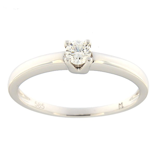 Gold ring with diamond 0,15 ct. Code: 89ak