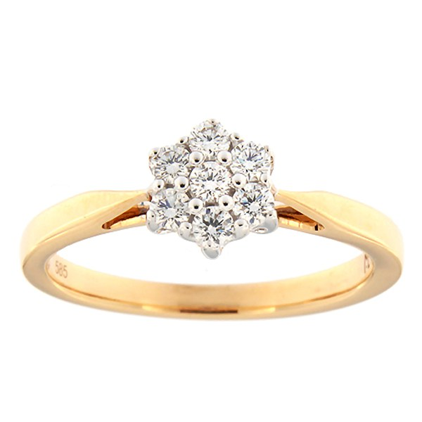 Gold ring with diamonds 0,24 ct. Code: 94ak