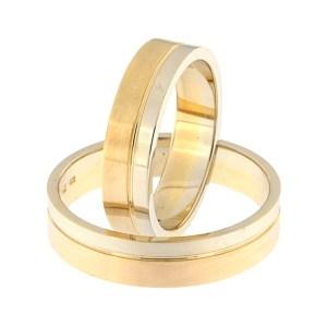 Kullast abielusõrmus Kood: rn0152-5-1/3vl-2/3km1