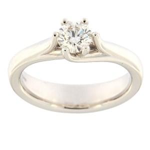 Gold ring with diamond 0,51 ct. Code: acredo8