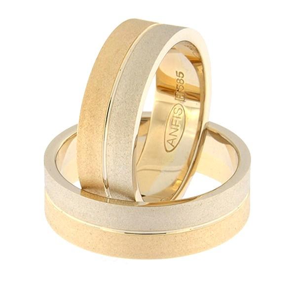 Золотое обручальное кольцо Kод: rn0108-6-1/2vm2-1/2km2