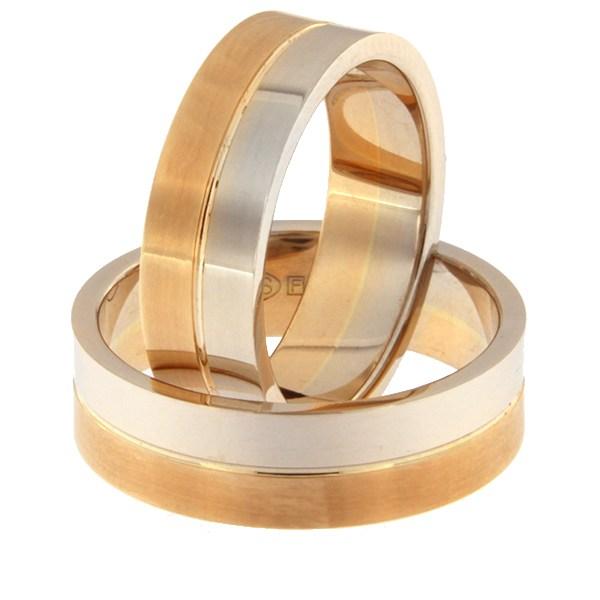 Kullast abielusõrmus Kood: rn0108-6-1/2vl-1/2km1