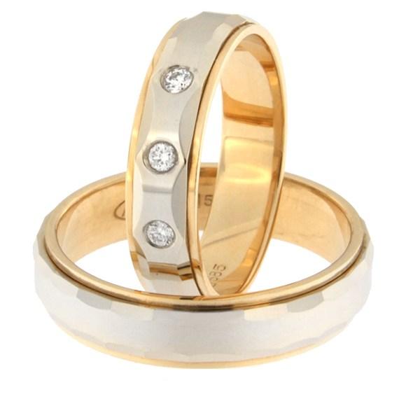 Kullast abielusõrmus teemantidega Kood: rn0111-5l-pvl-ak-3k