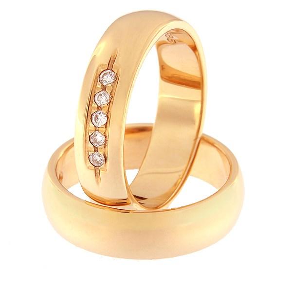 Kullast sõrmus teemantidega Kood: rn0116-5-5kk