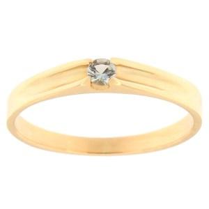 Kullast sõrmus topaasiga Kood: rn0121-sinine