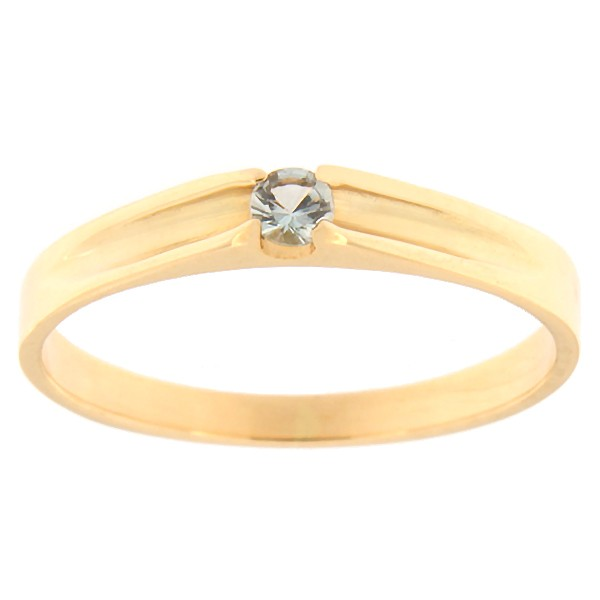 Gold ring with topaz Code: rn0121-sinine