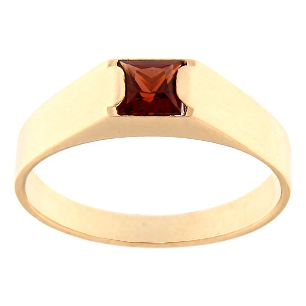Gold ring with garnet Code: rn0123-granaat