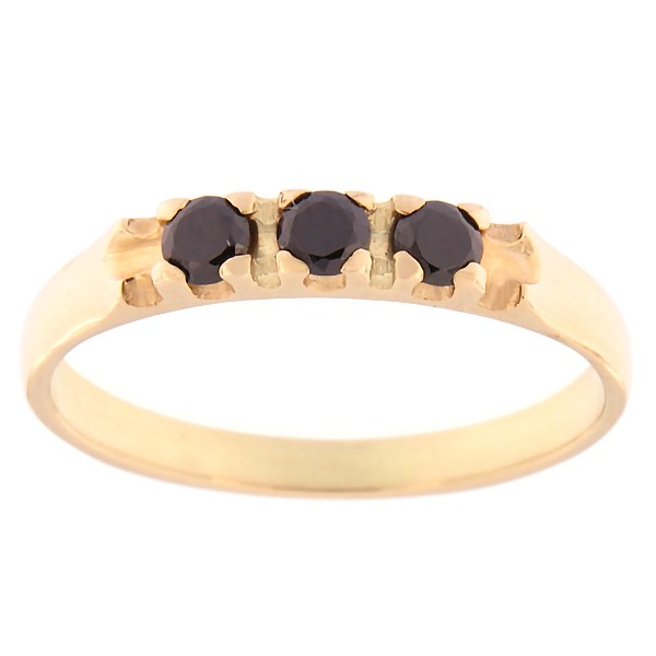 Gold ring with zircons Code: rn0126-must