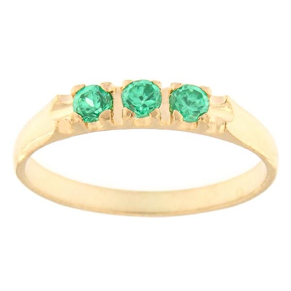 9e731e27072 Kullast sõrmus tsirkoonidega Kood: rn0126-roheline - MATIGOLD - Mati ...