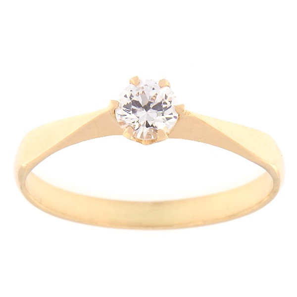 Kullast sõrmus tsirkooniga Kood: rn0127-valge