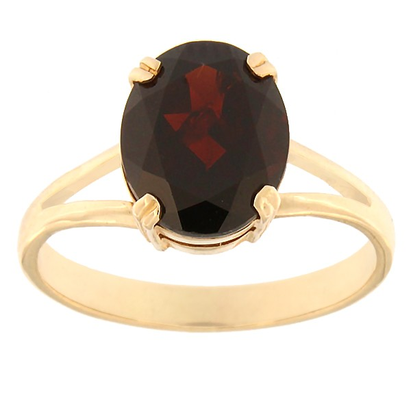 Gold ring with garnet Code: rn0146-granaat