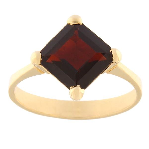 Gold ring with garnet Code: rn0149-granaat