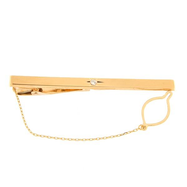 Золотая булавка для галстука с бриллиантом Kод: tp0104-1k