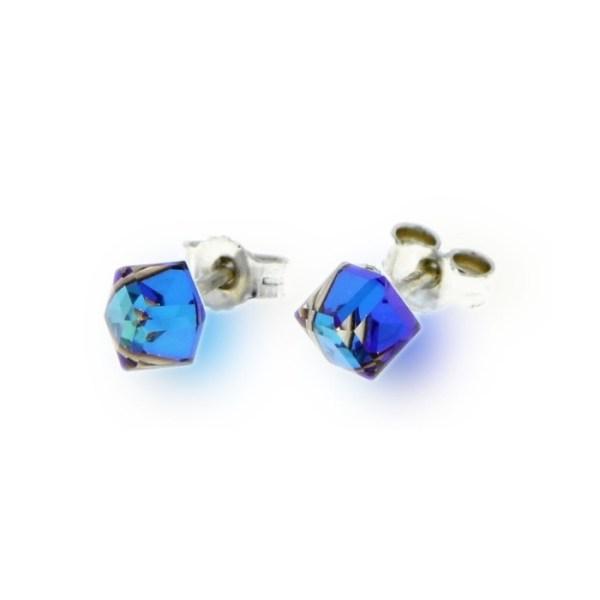 Hõbedast kõrvarõngad Swarovski® kristallidega Kood: K48414BB