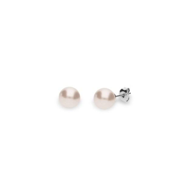 Hõbedast kõrvarõngad Swarovski® kristallpärlitega Kood: K58188CR