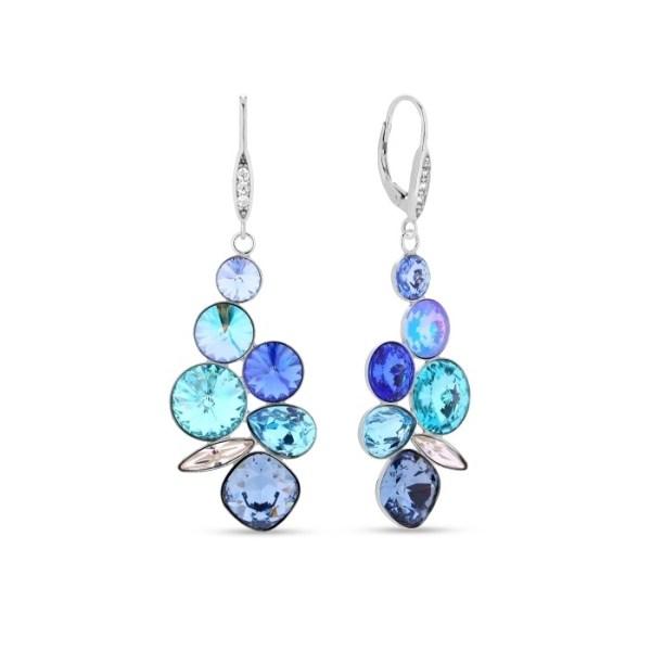 Silver earrings with Swarovski® crystals Code: KA1122MIX1DB