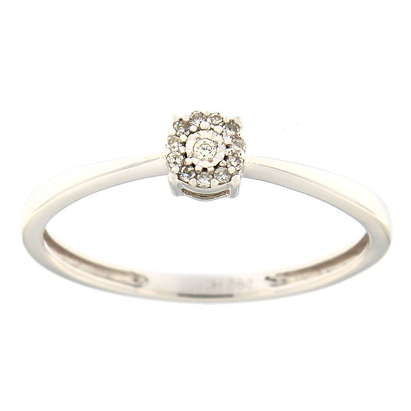 Kullast sõrmus teemantidega 0,05 ct. Kood: 12ha