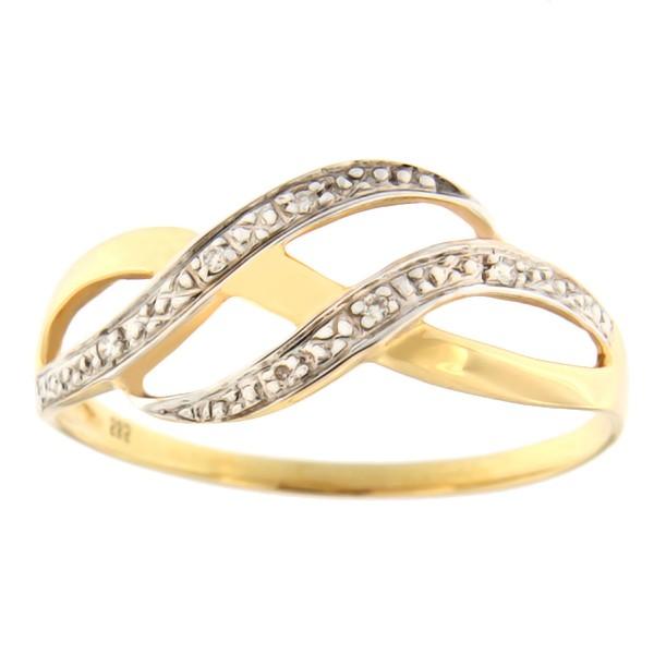 Kullast sõrmus teemantidega 0,02 ct. Kood: 141ac
