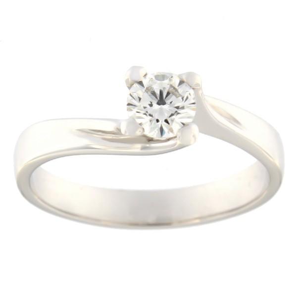 Kullast sõrmus teemantiga 0,51 ct. Kood: 15b