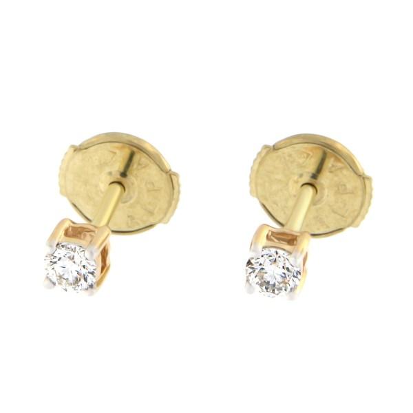 Kullast kõrvarõngad teemantiga 0,20 ct. Kood: 3at