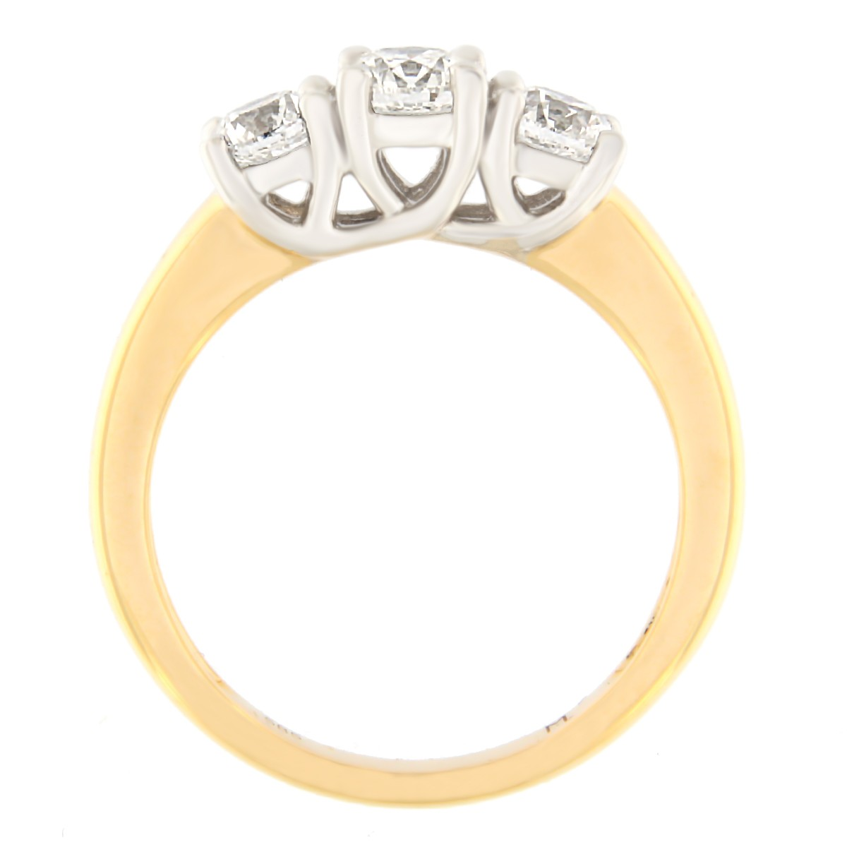 Kullast sõrmus teemantidega 1.01 ct. Kood: 59at külg