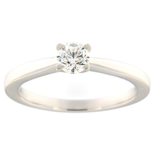 Kullast sõrmus teemantiga 0,38 ct. Kood: 91at