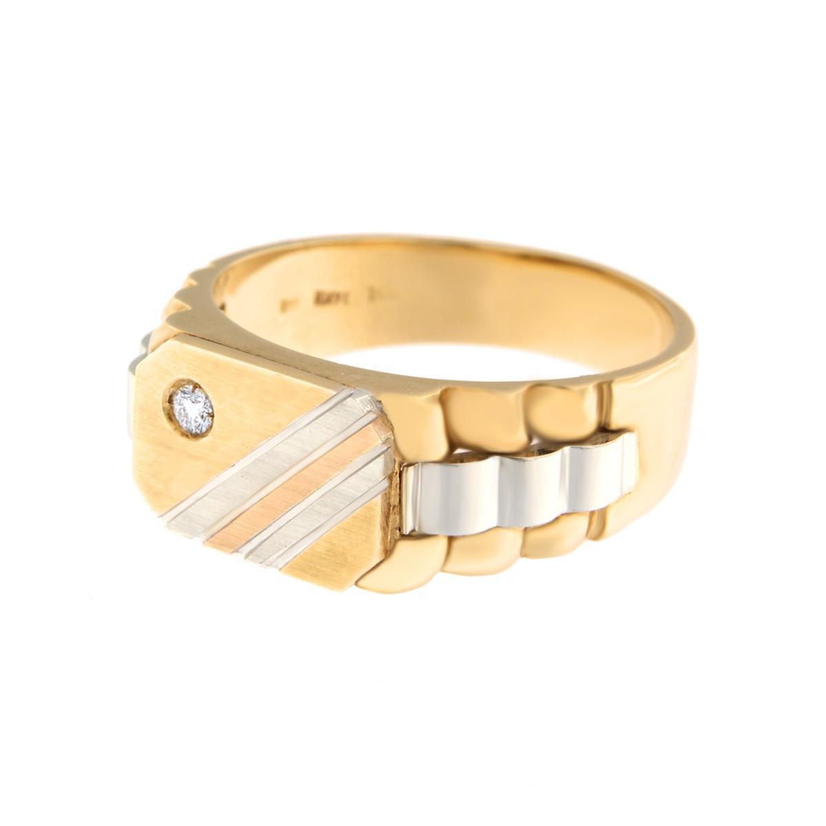 Kullast klotser teemantiga 0,05 ct. Kood: 295b