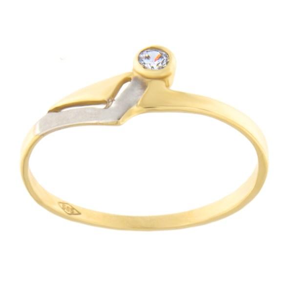 Kullast sõrmus tsirkoonidega Kood: 154pm
