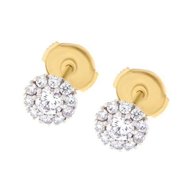 Kullast kõrvarõngad teemantidega 0,52 ct. Kood: 28at
