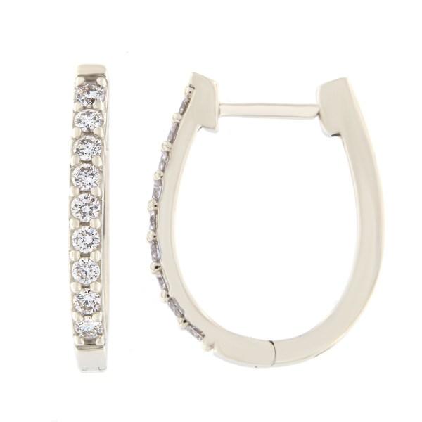 Kullast kõrvarõngad teemantidega 0,50 ct. Kood: 60hb
