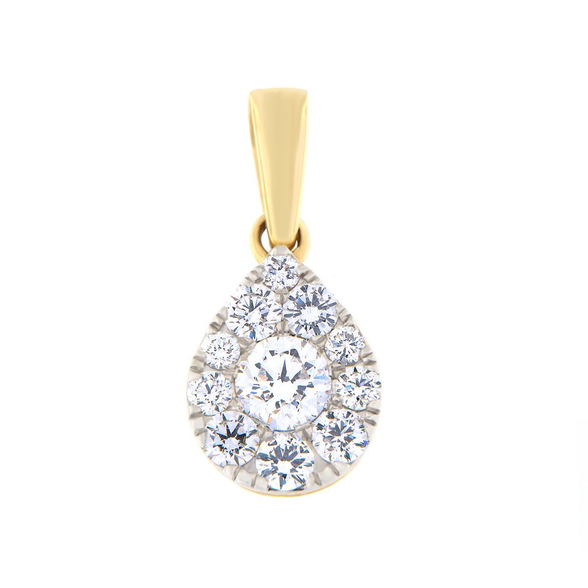 Kullast ripats teemantidega 1,00 ct. Kood: 77ha