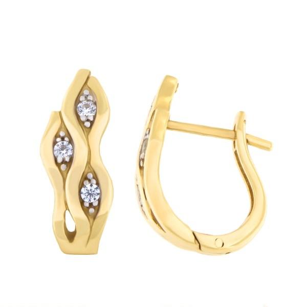 Kullast kõrvarõngad tsirkoonidega Kood: 22pe