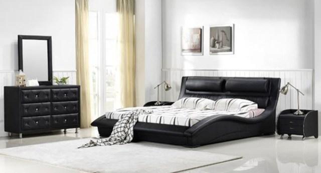 Napoli Modern Bedroom Set ( Black) - matisseco
