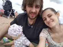 rodzina w gdansku na plazy
